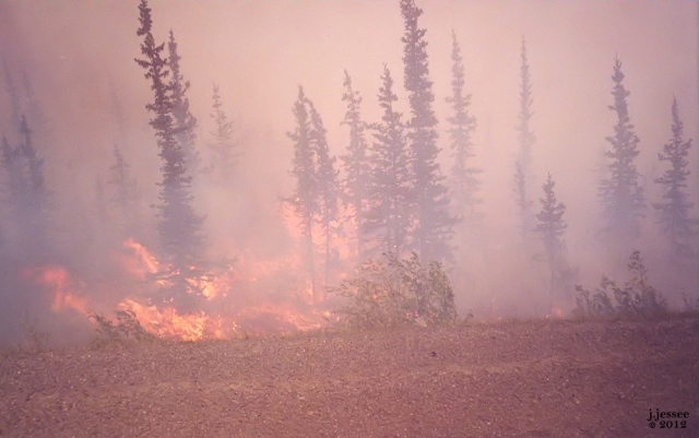Fire on the Dalton Highway