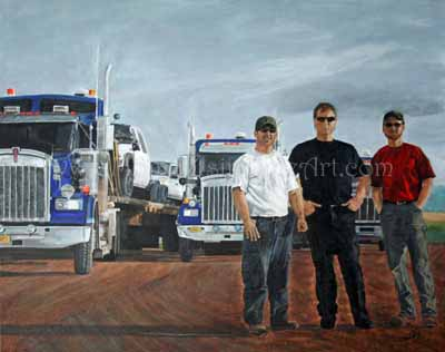 Transportation Art by Christy Hollibone