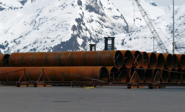 Six foot pipe in Valdez
