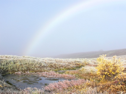 A Mist Rainbow on the Dalton Highway