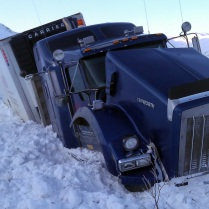 Truck in the ditch