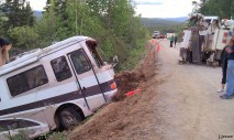 Motor home off the road