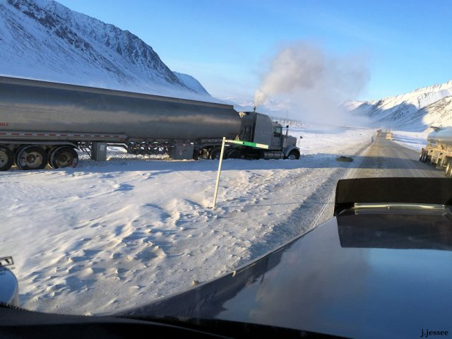 Fuel truck off the road