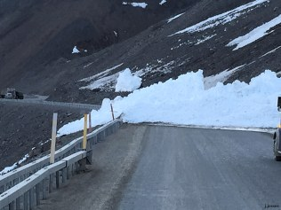 Avalanche on Atigun Pass