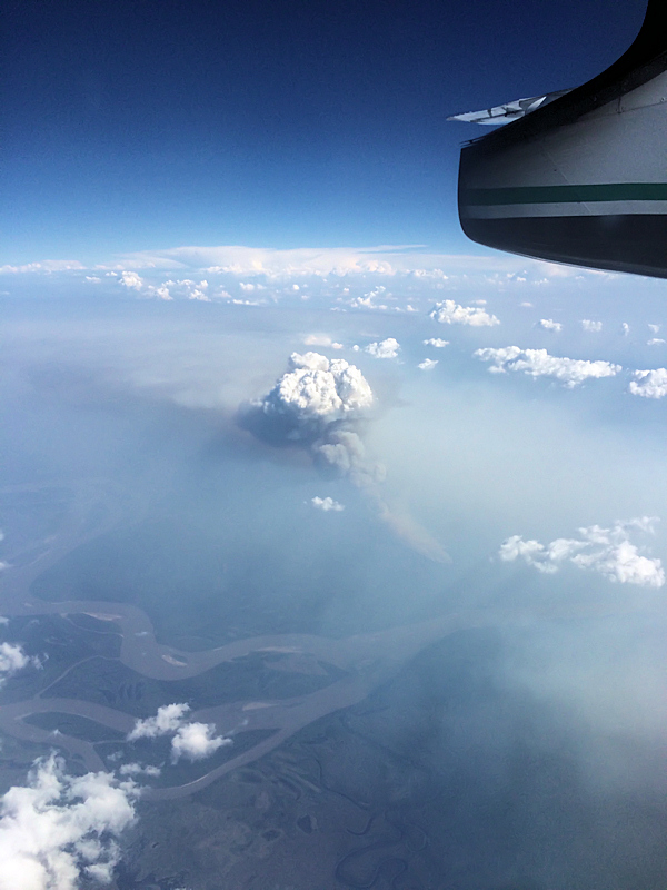 Smoke from a wildfire, photo from Joe Kemp