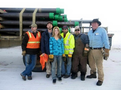 Greg, Jack, Lisa, Ray, Hugh & Alex in Prudhoe Bay