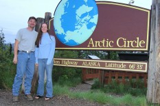 Jack and Judy stop by the Arctic Circle on their first date (yes, a trip to Prudhoe was their first date).