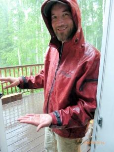 Jack, enjoying the hail storm.