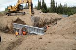 The next two photos are pretty self explanatory. Collapsed culverts are very common in interior Alaska.