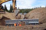 New culvert on the Alaska Highway
