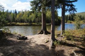You can't get a better camping spot than this one right by the river.
