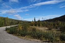The Steese Highway, one of the less populated camping destinations.