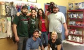 Jack with Dr. Dee and the production crew. Sport is laying down in the middle, so he didn't make it into the picture. :(