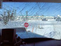 Broken windshield, culprit: ptarmigan - The Jack Jessee Blog
