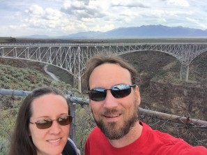 The day before we were enjoying the beautiful (but cool) weather of Taos.
