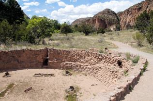 The first ruins you come to, a circular building that was a religious gathering place.