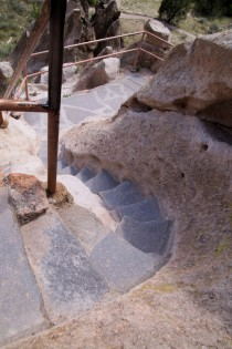 These steps were put in by the park service, as were the ladders.