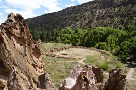 Looking down on the circular ruins, some of which were at least 2 stories high.