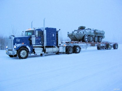A Stryker, going to Anchorage.