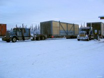 A couple of cooling units in Glennallen after they were barged to Valdez.