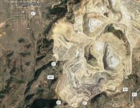 A satellite image of Cripple Creek & Victor Gold Mine.