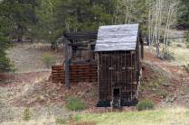 "This old structure is called the ""Morning Glory Ore House"" and was moved here in 2012 for preservation."