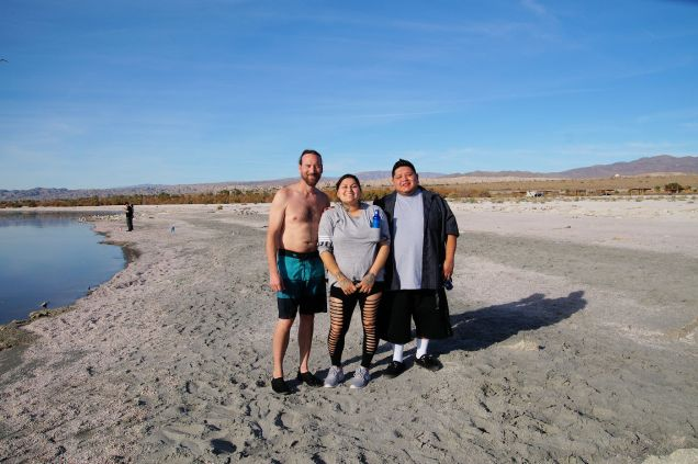 Jack with our new friends Llyod Duro & Vilma, of the Torres Martinez Desert Cahuilla Indians. Lloyd is with the TM Birdsingers...check them out on YouTube.