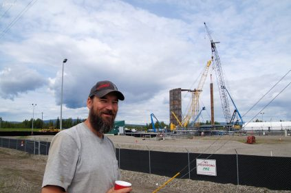 Jack Jessee, just hauled a cement panel to Fairbanks for the new LNG tank.
