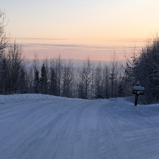 The Alaska Range in the distance